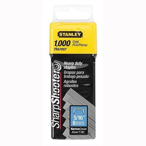 Stanley SharpShooter Heavy Duty 8mm 5/16in Type G Staples Pack of 1000 1-TRA705T