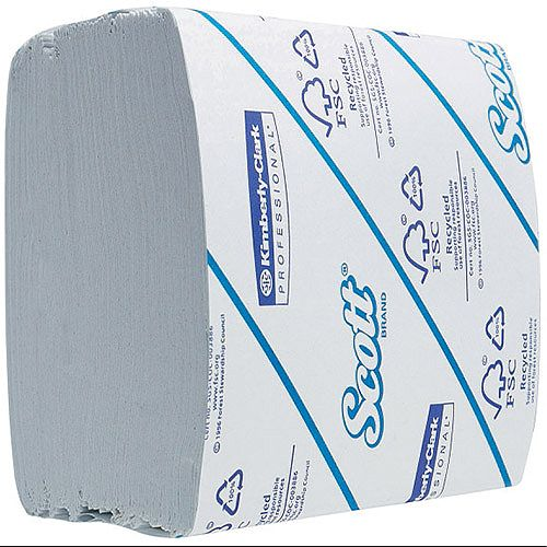 Kimberly Clark Scott White 2 Ply Bulk Pack Toilet Paper Tissue Refills 36 Sleeves 300 Sheets per Sleeve 8577