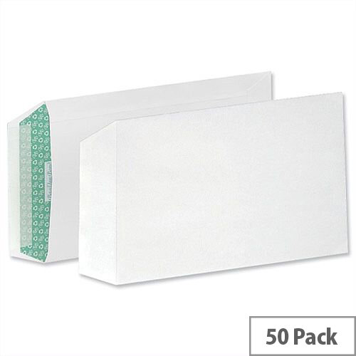 Basildon Bond C5 White 100gsm Envelopes Peel and Seal Pocket Pack 50 Ref B80277