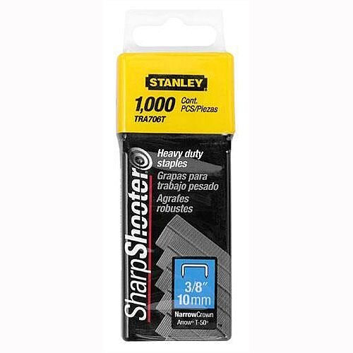 Stanley SharpShooter Heavy Duty 10mm 3/8in Type G Staples Pack of 1000 1-TRA706T