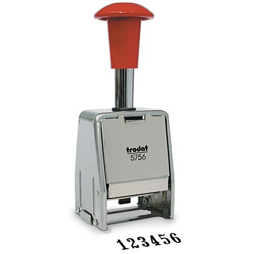 Trodat 5756/M Numberer Stamp Sequential Self-inking 8 Adjustments 5.5mm Digits 86624