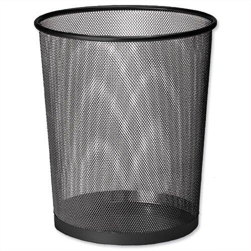 Osco Mesh Black Waste Desk Bin Scratch Resistant 15L