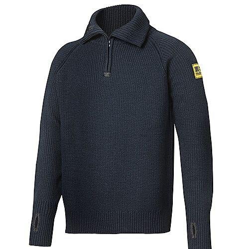Snickers 2905 ½-Zip Wool Sweater Size S Navy