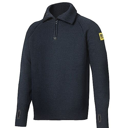 Snickers 2905 ½-Zip Wool Sweater Size L Navy