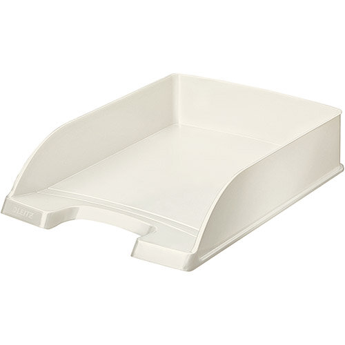 Leitz WOW Bright Letter Tray Stackable Glossy White Pearl