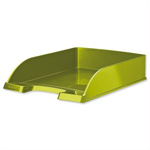 Leitz WOW Bright Letter Tray Stackable Glossy Metallic Green