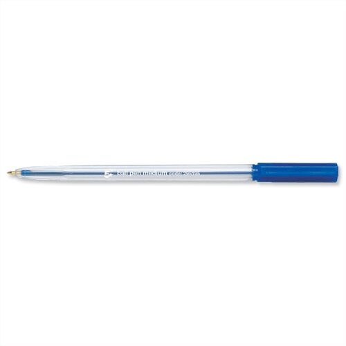 Ballpoint Pen Blue Medium Clear Barrel Pack 50 5 Star
