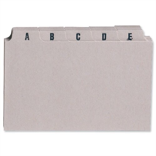 Index Cards A-Z 5x3in 127x76mm Buff Pack 25 5 Star