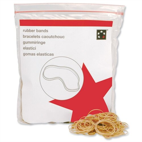 5 Star Rubber Bands No.38 152x3mm 454g Bag