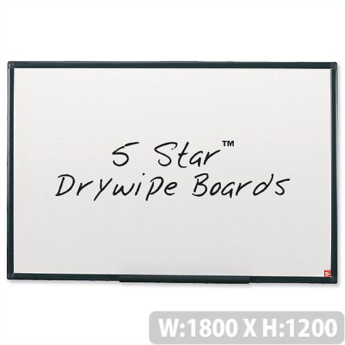 Whiteboard Lightweight 1800 x 1200mm 5 Star