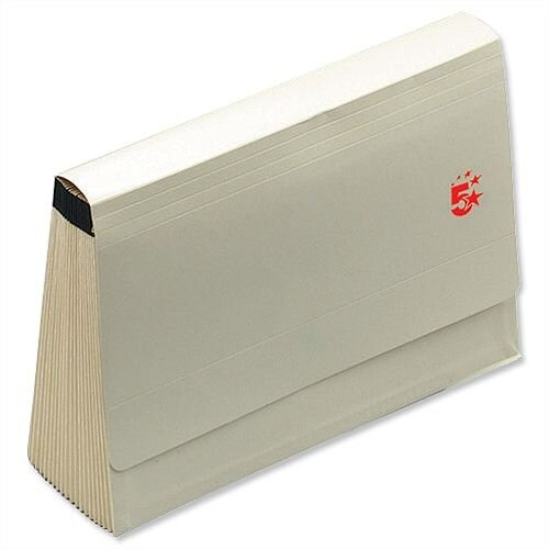 Expanding Files with Flap 19 Pockets A-Z Foolscap Buff 5 Star