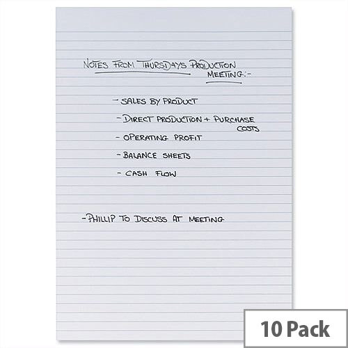 A4 Memo Pad White Pack 10 5 Star