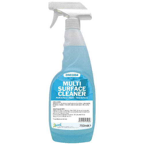 2Work Multi-Surface Trigger Spray 750ml Bottle Provides A Fresh Clean &Fragrant Aroma. Spray &Wipe With A Dry Or Damp Cloth For Best Results. Ideal For Use In Schools, Colleges, Offices, Homes &More.