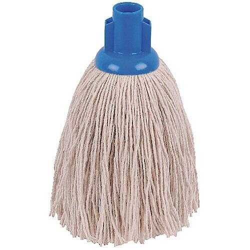 2Work 12oz Twine Rough Socket Mop Head Blue Pack of 10 PJTB1210I