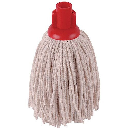 2Work 12oz PY Smooth Socket Mop Head Red Pack of 10 PJYR1210I