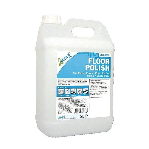 2Work Floor Polish Cleaner 5 Litre - protect the floor from scuffs and scratches - Ultra hard-wearing and with a good slip-resistance - suitable for use on all non-porous floors including vinyl, thermoplastic, linoleum, rubber, asphalt,