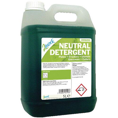 2Work Dishwasher Neutral Liquid Detergent 5 Litre Pack of 1