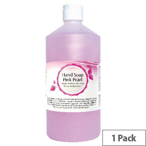 2Work Pink Pearl Rose Fragrance Liquid Hand Soap Dispensers Refill 750ml (Pack 1)