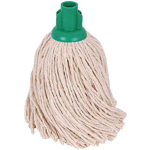 2Work 14oz PY Smooth Socket Mop Head Green Pack of 10 PJYG1410I
