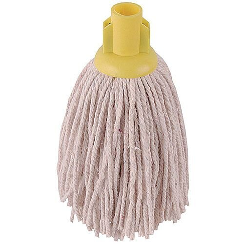 2Work 14oz PY Smooth Socket Mop Head Yellow Pack of 10 PJYY1420I