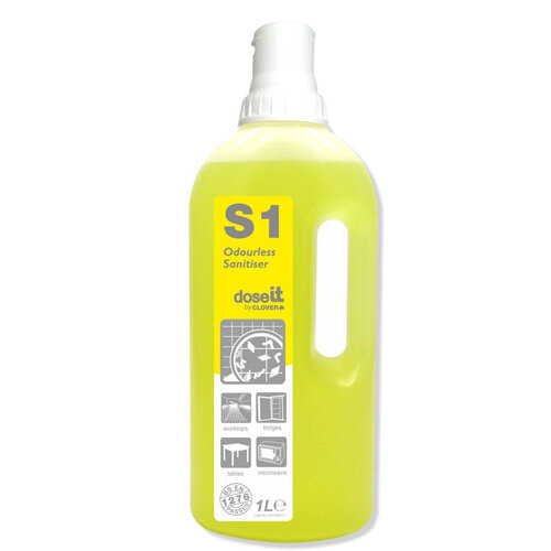 Dose It S1 Odourless Sanitiser 1 Litre Pack 8
