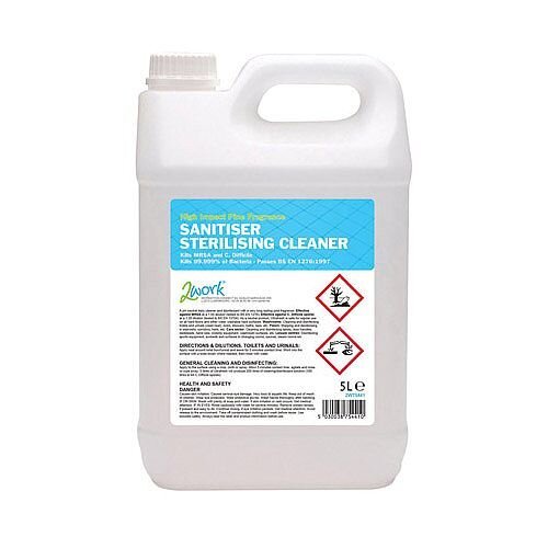 2Work Sanitiser Sterilising Concentrate 5 Litre 260