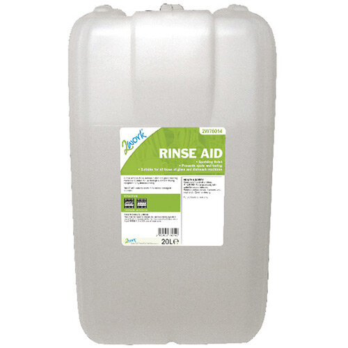 2Work Dishwasher Rinse Aid Additive 20 Litre Pack of 1