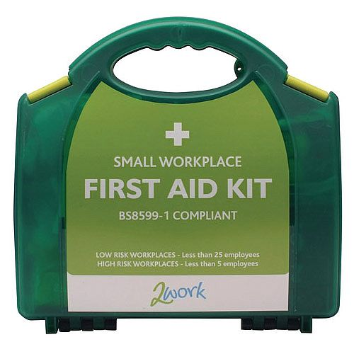 2Work Small BSI BS8599-1 Standards First Aid Kit X6050 Up to 5 Person