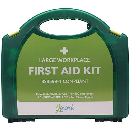 2Work Large BSI BS8599-1 Standards First Aid Kit X6052 Up to 20 Person