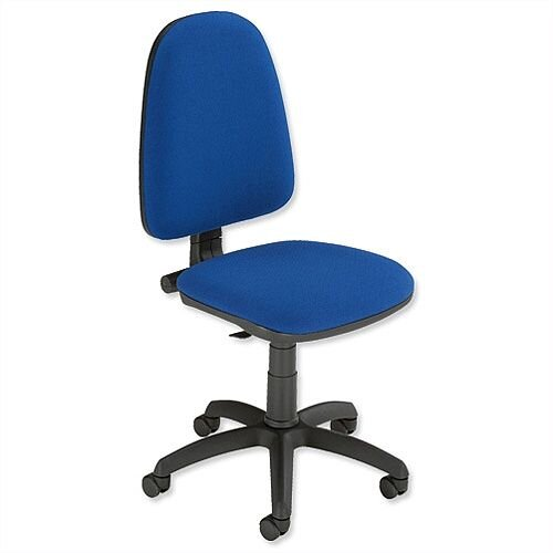 operator chair permanent contact high back blue trexus - huntoffice.ie