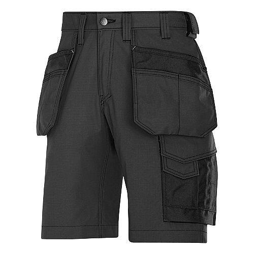 "Snickers Craftsmen Holster Pocket Shorts Black Waist 35"" Inside leg 32"" WW1"