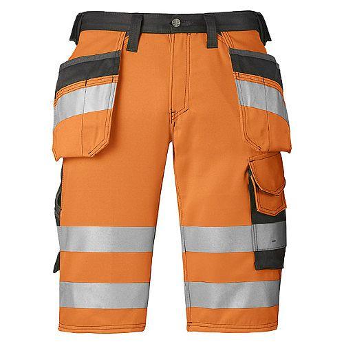 """Snickers High-Vis Shorts Orange Class 1 Waist 33"""" Inside leg 32"""" WW1"""