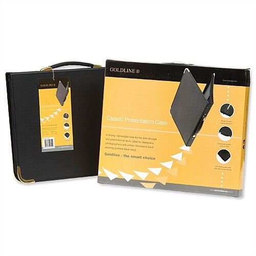 A2 Presentation Case Vinyl Black Goldline