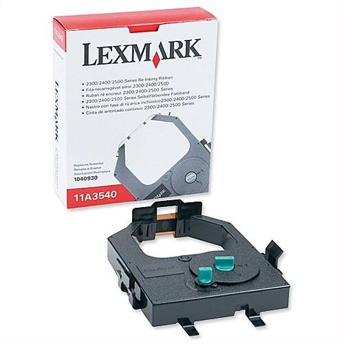 Lexmark 11A3540 Printer Ribbon Cassette Black for 23XX 24XX