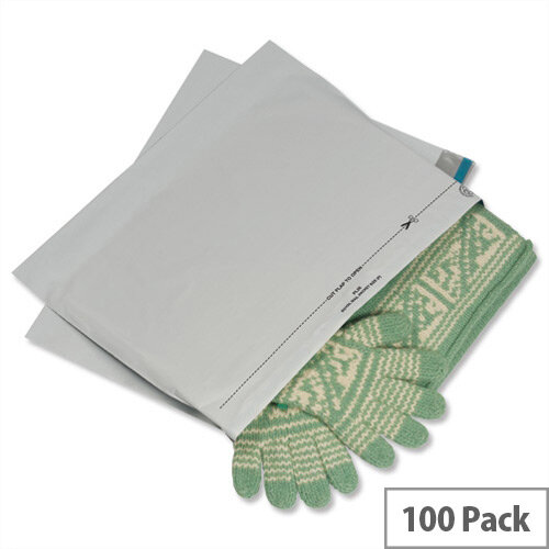 GoSecure 335 x 430mm Grey Light-Weight Polythene Protective Envelopes Pack 100