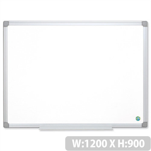 Earth-it Bi-Office Whiteboard 1200 x 900 mm Aluminium Frame MA0500790