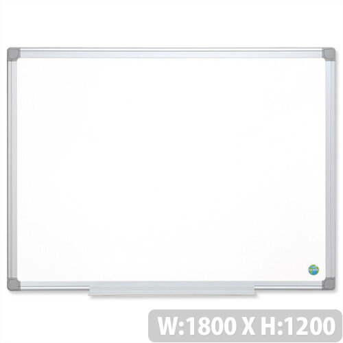 Bi-Office 1800 x 1200 mm Whiteboard Aluminium Frame Earth-it MA2700790