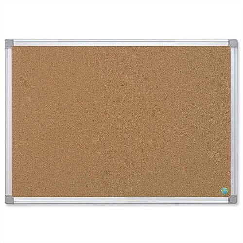 Bi-Office Cork Notice Board with Aluminium Frame 1200 x 900mm Earth-it CA51790
