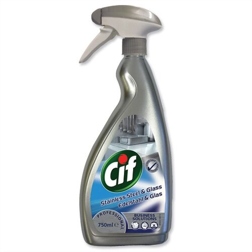 Cif Professional Stainless Steel and Glass Cleaner 750ml