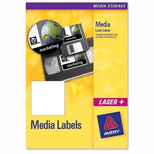 Avery Video Face Labels 12 per Sheet 76.2x46.4mm L7671-25 300 Labels