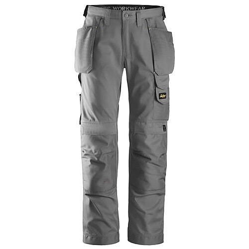 """Snickers 3211 Craftsmen CoolTwill Work Trousers with Holster Pockets Grey Waist 28"""" Inside leg 32"""" WW1"""