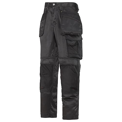 """Snickers 3212 Craftsmen 31""""/30"""" Holster Pocket Trousers DuraTwill Size 88 Black"""