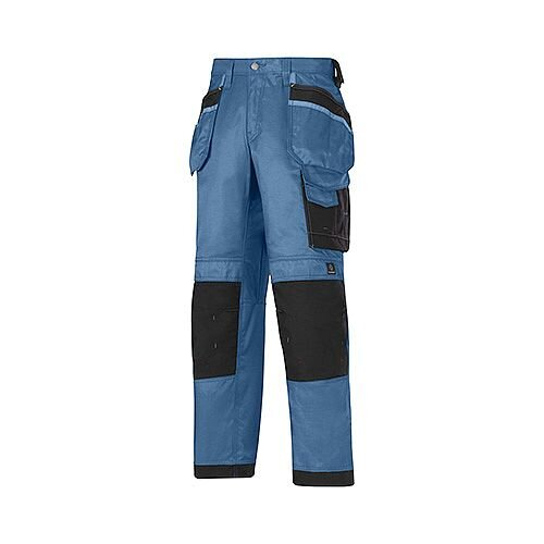 "Snickers 3212 Craftsmen 47""30"" Holster Pocket Trousers DuraTwill Size 120 Blue/Black"
