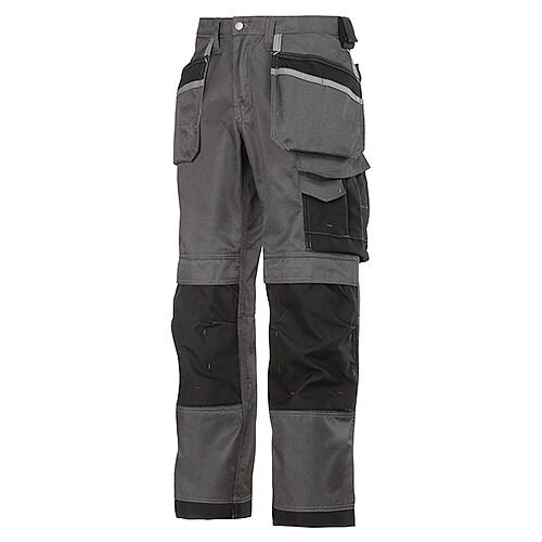 "Snickers 3212 Craftsmen 47""30"" Holster Pocket Trousers DuraTwill Size 120 Muted Black/Black"