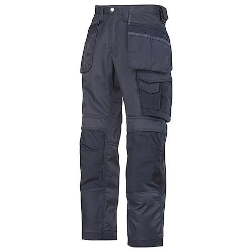 """Snickers 3212 Craftsmen 35""""/37Holster Pocket Trousers DuraTwill Size 250 Navy"""