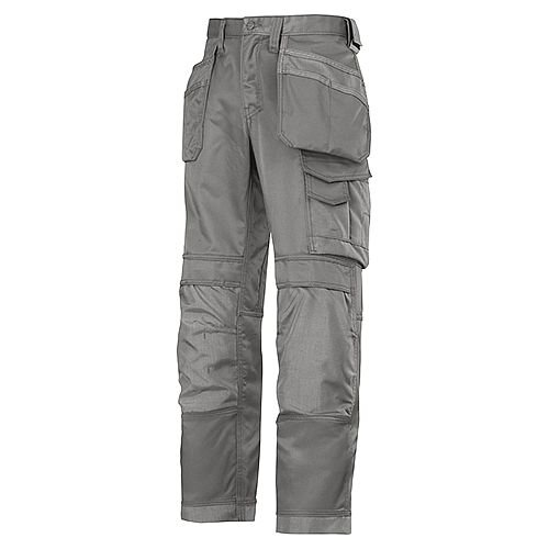 """Snickers Canvas+ Trousers Grey Waist 33"""" Inside leg 37"""" With Holster Pocket"""