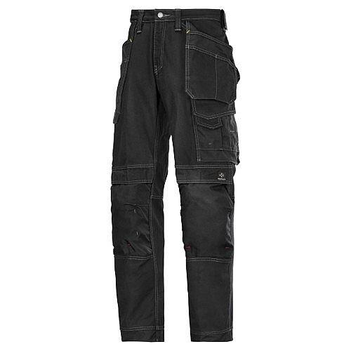 """Snickers Cotton Trousers Black Waist 33"""" Inside leg 37"""" WW1"""