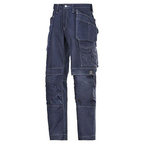 "Snickers Cotton Trousers Navy Waist 33"" Inside leg 32"" WW1"