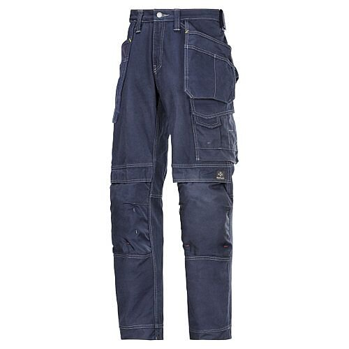 "Snickers Cotton Trousers Navy Waist 33"" Inside leg 37"" WW1"