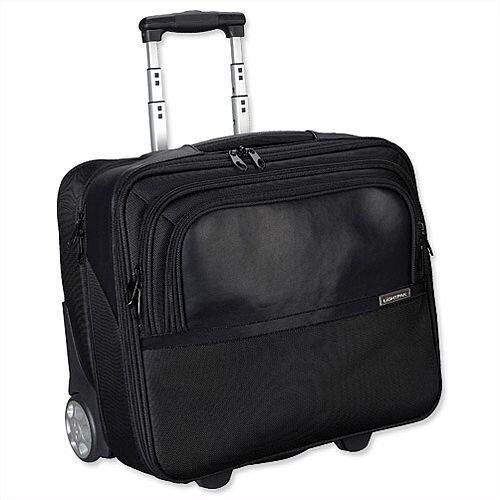 "Executive Business Trolley Black Detachable 17"" Laptop Sleeve Nylon Lightpak"